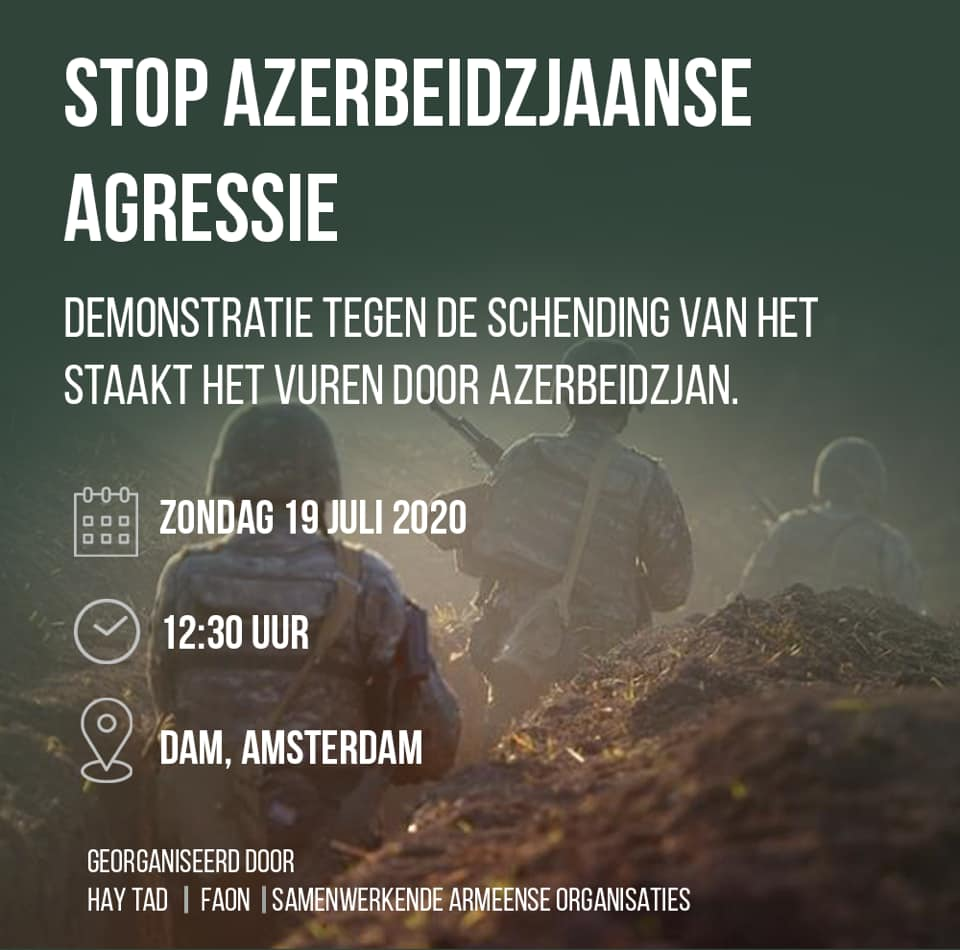 Demonstratie tegen Azerbeidzjaanse agressie