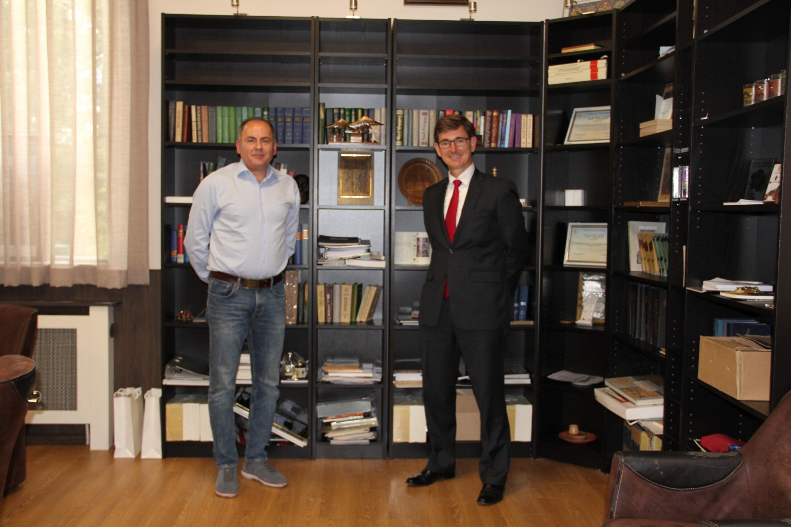 Ontmoeting met toekomstige ambassadeur van Nederland in Armenië